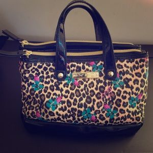 Betsey Johnson Leopard and Roses Bag
